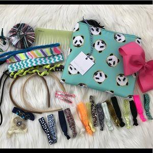 Girls' Hair Bundle with Tartan & Twine Bag